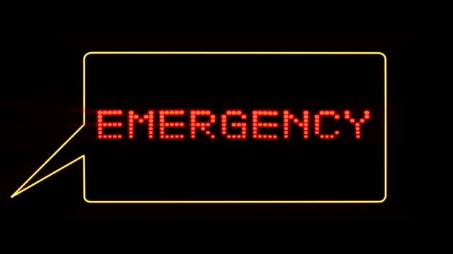 Emergency text in speech bubble video