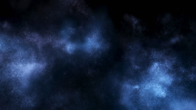 emerging particle cloud (blue) - neve farinosa video stock e b–roll