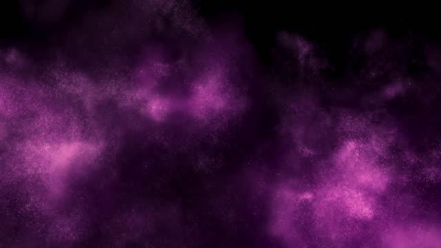 framväxande partikel moln (lila) - rosa bildbanksvideor och videomaterial från bakom kulisserna