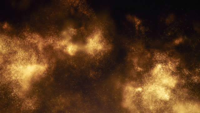 stockvideo's en b-roll-footage met opkomende deeltjes wolk (goud) - talk