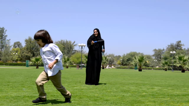 PANNING: Emirati family at the park video