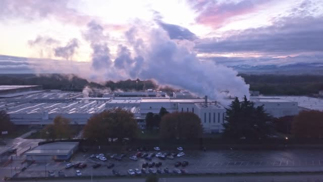 Emissions from the industry - Video stock