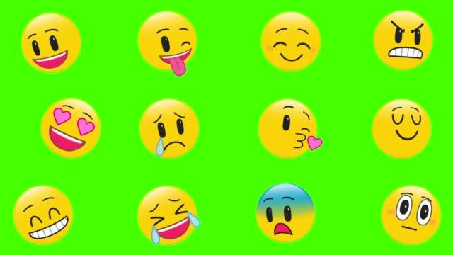 emoji set - emoji video stock e b–roll