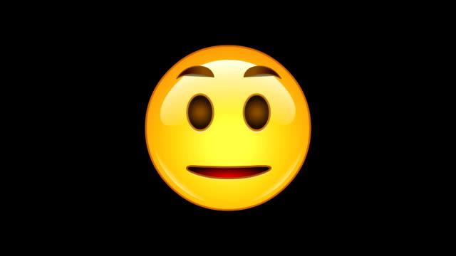 4 emojis-pack 4-animierte-endlos wiederholbar, alpha-kanal - smiley stock-videos und b-roll-filmmaterial