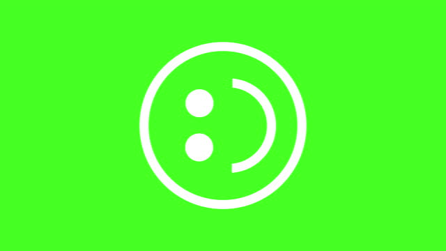 emoticon happy face roterande i mitten med grön skärm bakgrund 4k - djurhuvud bildbanksvideor och videomaterial från bakom kulisserna