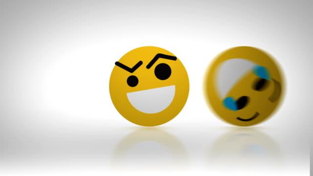 emoticons faces passing - emoji video stock e b–roll
