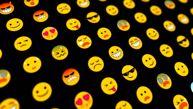 emoticons loopable abstract background - emoji video stock e b–roll