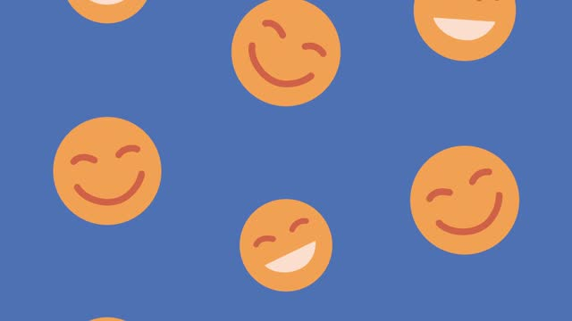 emoticons smiling faces animation pattern