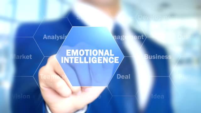 Emotional Intelligence, Businessman Using Augmented Holographic Interface