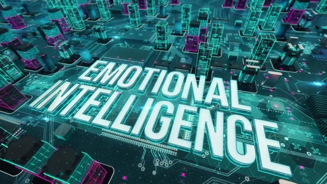 Emotional Intelligence with digital technology concept