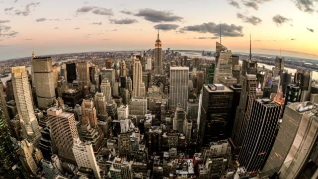 Empire State Building Manhattan New York City NYC Beautiful Sunset video