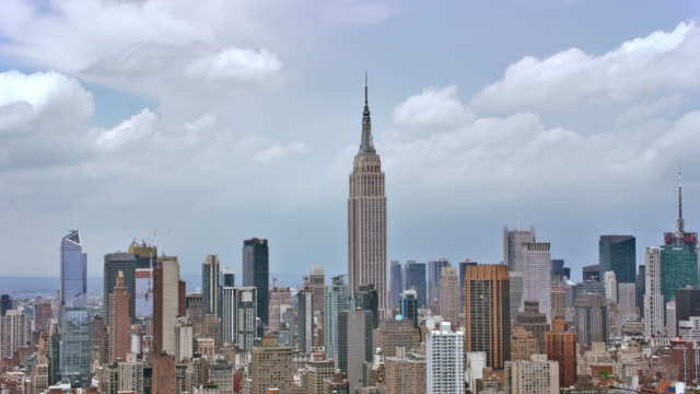ANTENNE de Empire State Building à Manhattan - Vidéo