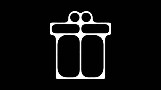 従業員福利厚生・特典ライン アイコン アニメーションのアルファを持つ - アイコン プレゼント点の映像素材/bロール
