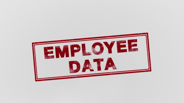 Employee data data stamping feet stock videos & royalty-free footage