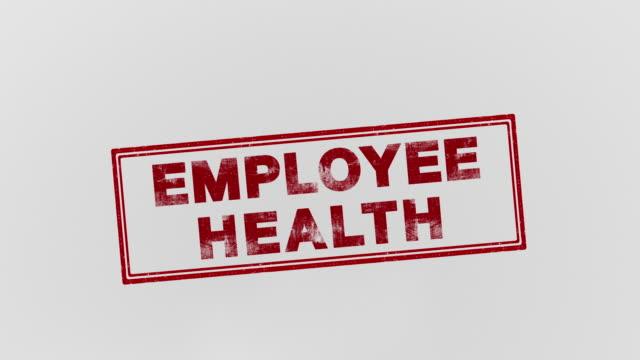 employee health - indennità video stock e b–roll