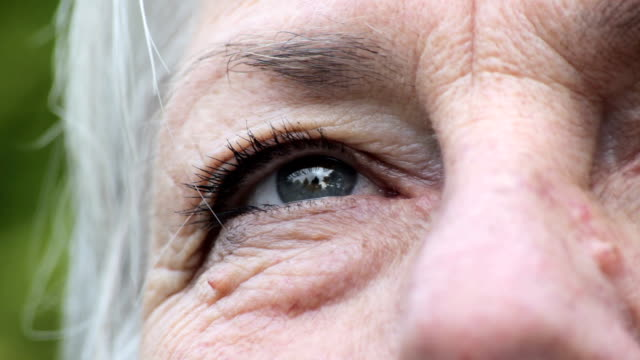 Empowered Future Extreme close up on a human eye, staring out into an empowered future aging process stock videos & royalty-free footage