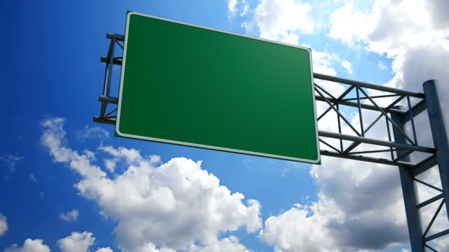 Empty 3D Highway Exit Sign