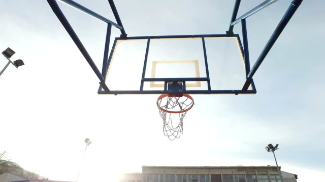 Empty basketball court. video