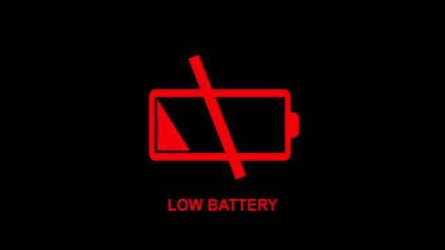 Empty battery allert animation 4K