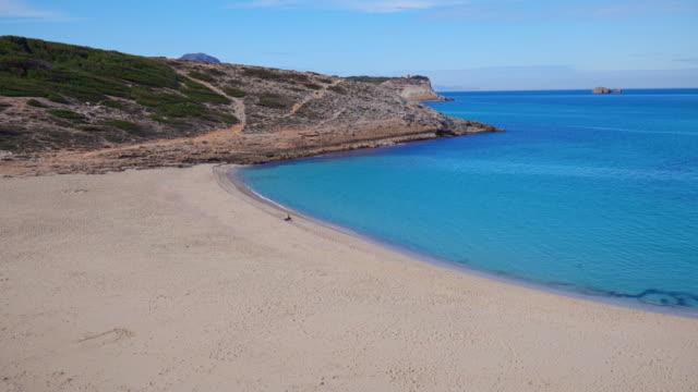 Empty beaches in mallorca - Bay Cala Torta on the Spanish Balearic island of Majorca - Spain