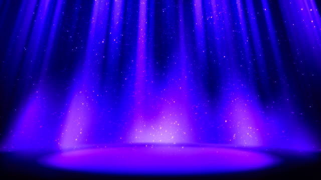 Empty blue purple scene on glittering background, place lit by soft indigo spotlight, falling shiny sparkling particles. Indigo background with soft glow, divine radiance. Seamless loop Empty blue purple scene on glittering background, place lit by soft indigo spotlight, falling shiny sparkling particles. Indigo background with soft glow, divine radiance. Seamless loop dark blue stock videos & royalty-free footage