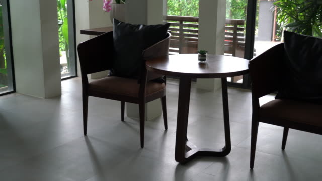 empty chair interior decoration video