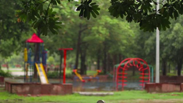 Empty children park video