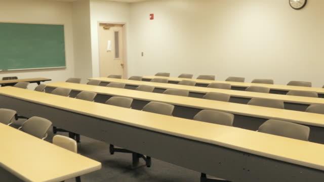 Empty College Classroom video