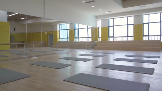 Empty dance classroom in school Empty dance classroom in school dance studio stock videos & royalty-free footage