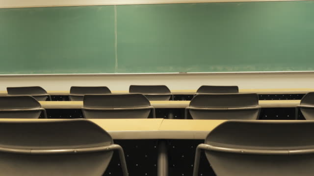 Empty Desks on a College Campus video