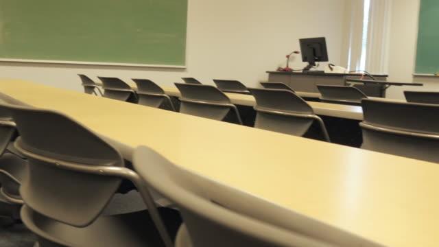 Empty Desks on a University Campus video