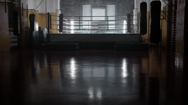 Empty fight ring video
