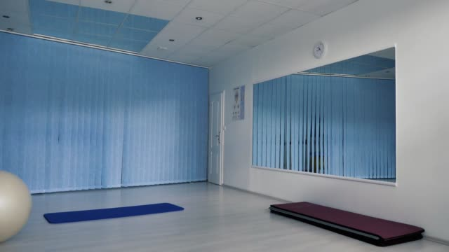 Empty Fitness Gym with fit-ball.
