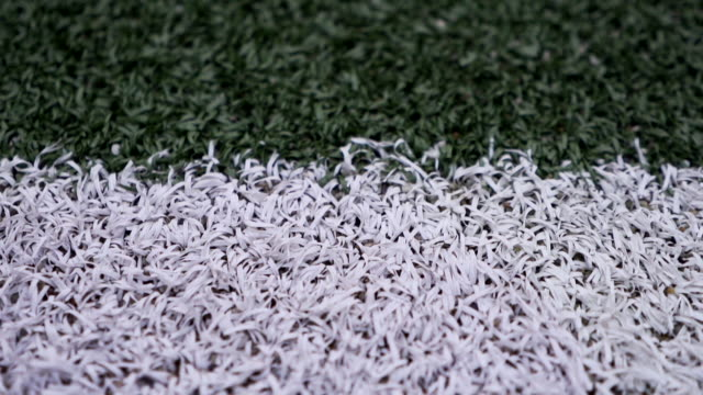 Empty football pitch in the campus of college in a foggy day Empty football pitch in the campus of college in a foggy day with no people high school sports stock videos & royalty-free footage