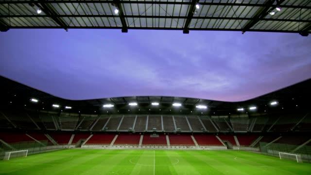 TD Empty football stadium at dawn video