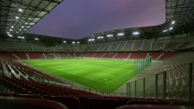 DS Empty football stadium at night