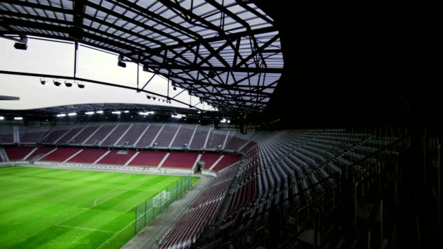 Empty football stadium video