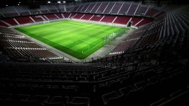 TU Empty football stadium video