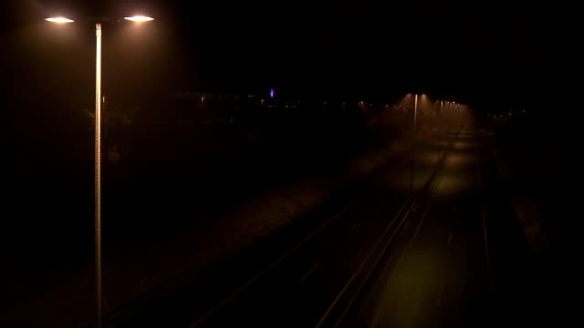 Empty Freeway In Mist video