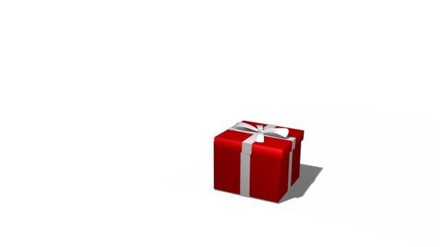 ギフトボックス空白 - プレセントの箱点の映像素材/bロール