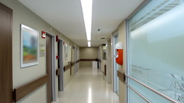 Empty hospital corridor