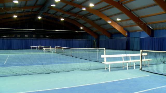 CS Empty Indoor Tennis Court video