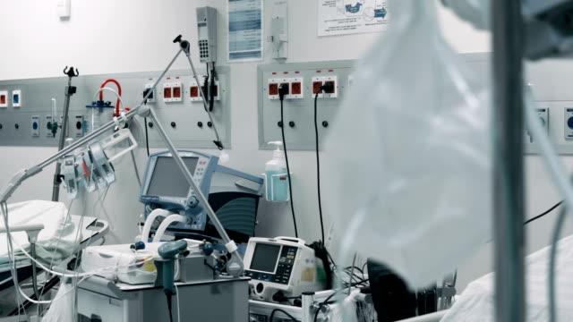 tom intensivvårdsavdelning på sjukhus - intensivvårdsavdelning bildbanksvideor och videomaterial från bakom kulisserna