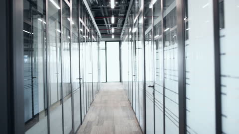 Empty office space Empty office space dolly shot stock videos & royalty-free footage