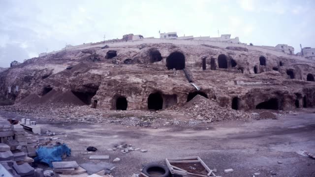 Empty Old Urfa Cavern Houses on Reconstruction Centre of City video