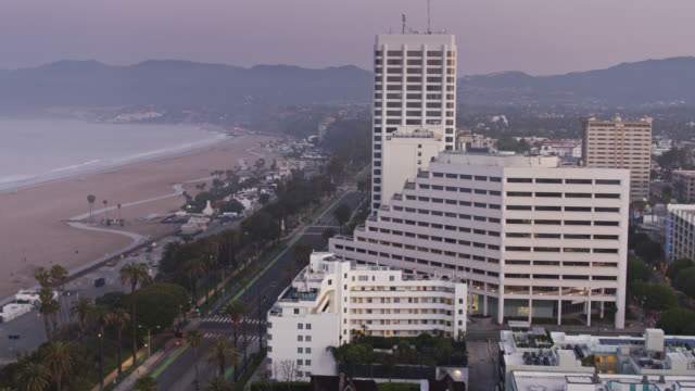 Empty Pacific Coast Highway and Ocean Avenue in Santa Monica During the Covid-19 Lockdown