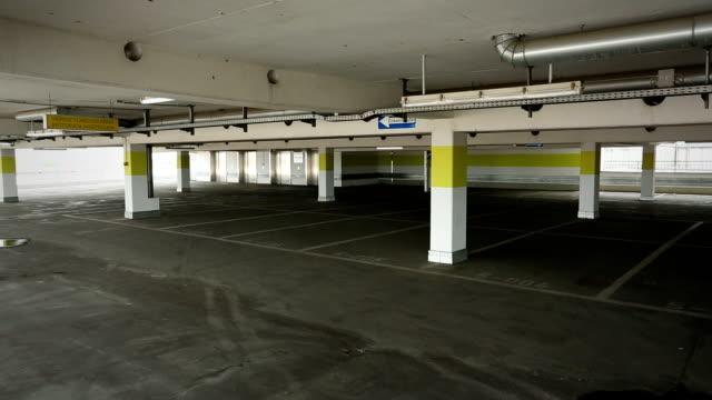 Empty parking garage video