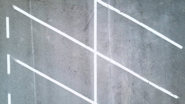 Empty parking lot seen from above