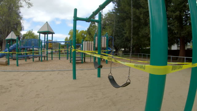 Empty playground during COVID19 Coronavirus in Palo Alto, California video