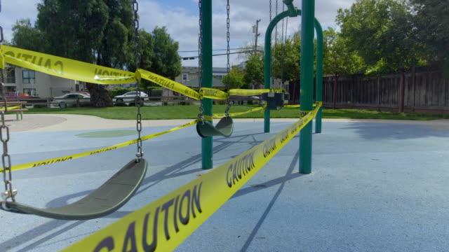 Empty playground in Mountain View, California at Coronavirus pandemic time.